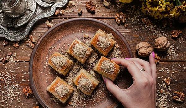 Arabische Süßigkeiten und Gebäck